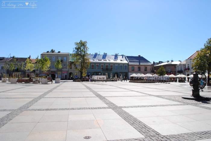 Grande Place de Kielce en Pologne